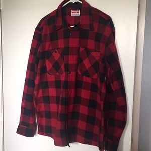 Wrangler Classic Red Plaid Flannel